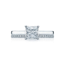 Load image into Gallery viewer, Tacori Sculpted Crescent Princess Diamond Engagement Ring (0.5 CTW)
