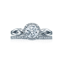 Load image into Gallery viewer, Tacori Sculpted Crescent Round Diamond Engagement Ring (0.06 CTW)