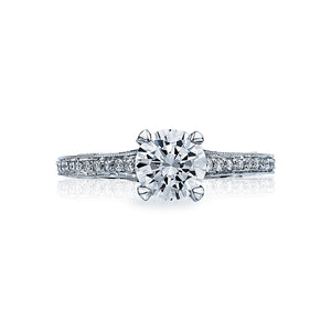 Tacori Sculpted Crescent Round Diamond Engagement Ring (0.1 CTW)
