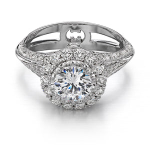 Christopher Designs Crisscut Engagement Ring (0.93 CTW)