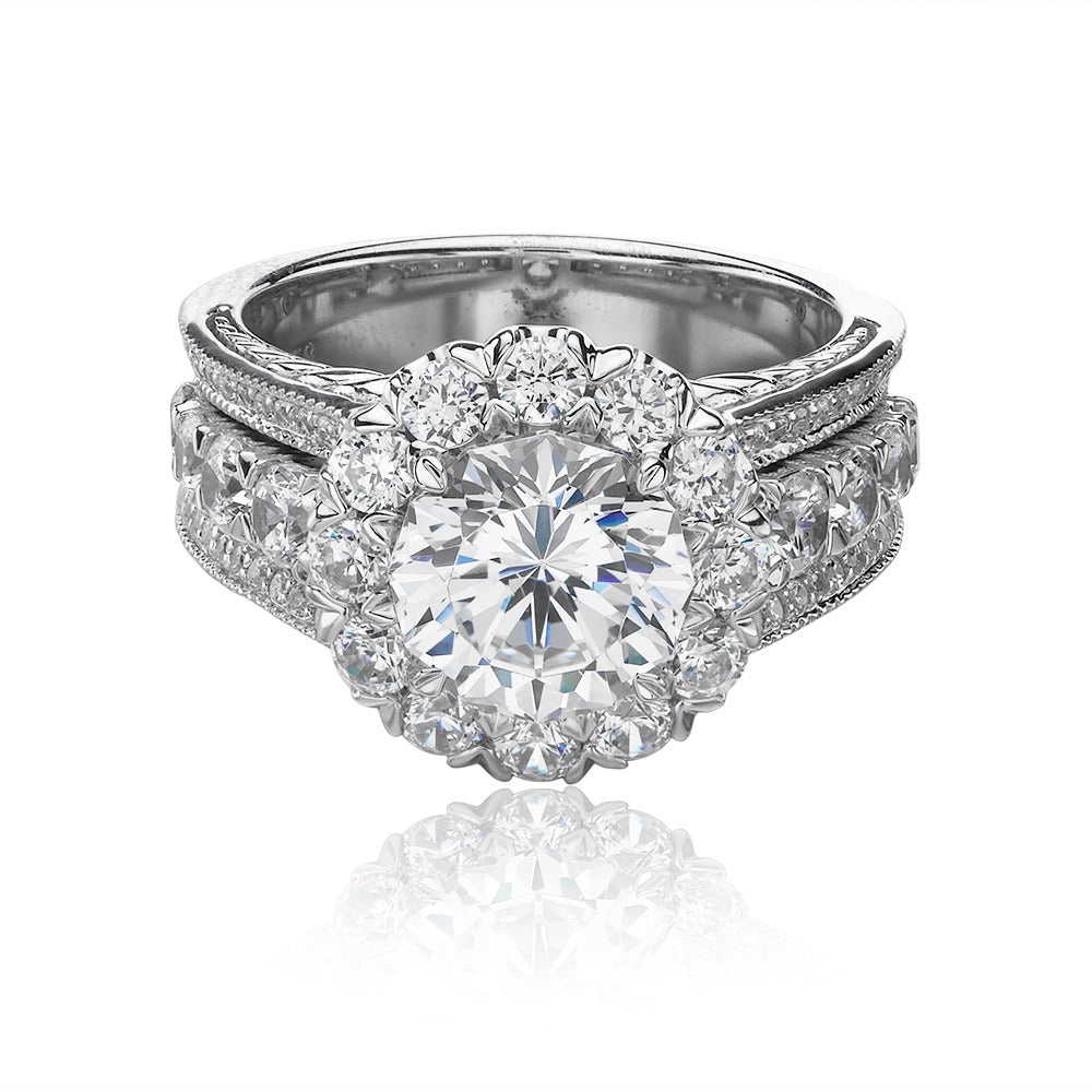 Christopher Designs Crisscut Engagement Ring (1.04 CTW)