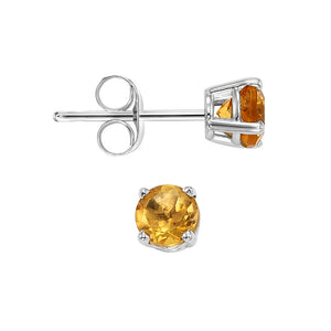 14kw prong citrine studs, fcps5.5-ss