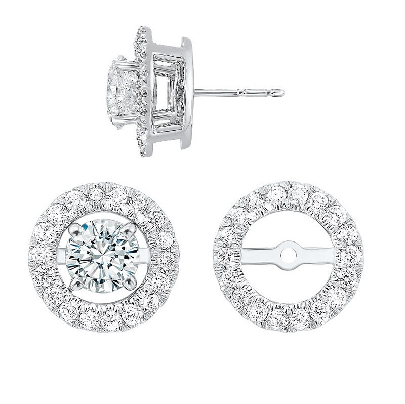 14kw halo micro prong diamond jacket earrings 1/5ct, rg73462-1wng