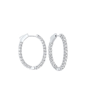 14kw prong diamond hoop earrings 2ct, fe2084-4wd