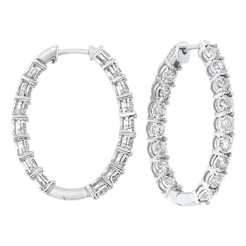 14kw tru ref prong diamond hoops 3ct, pp6.5aa-4w