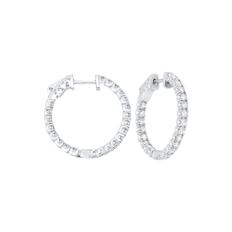 14kw prong diamond hoop earrings 2ct, fe2082-4yd