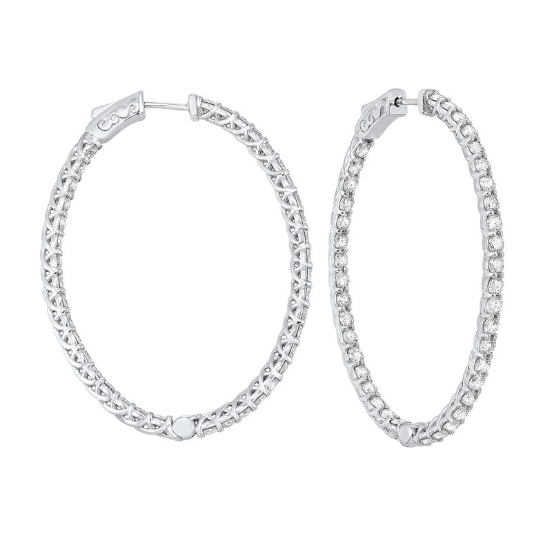 14kw prong diamond hoop earrings 5 ct, fe2046-1pd