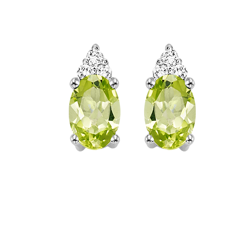 10kw color ens prong peridot earrings 1/25ct, er24315-4wc
