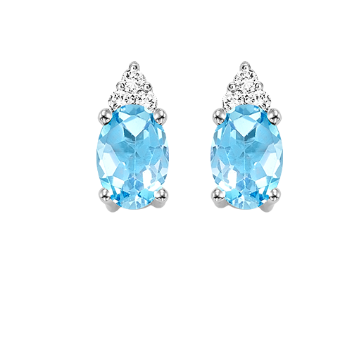 10kw color ens prong blue topaz earrings 1/25ct, er10150-4wb
