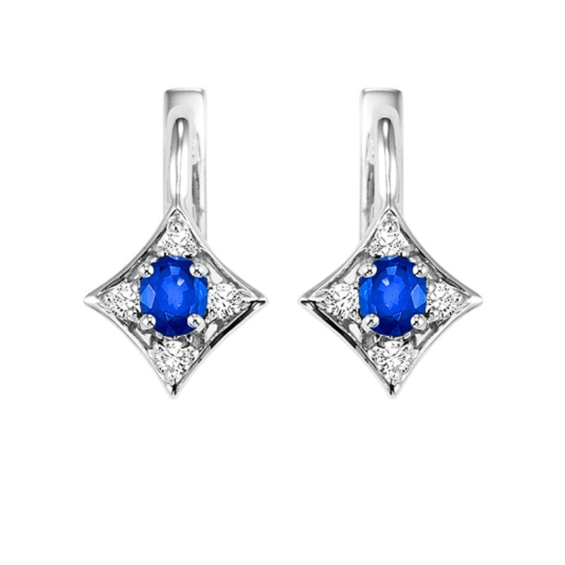 14kw color ens prong sapphire earrings 1/12ct, rg71625-4wc