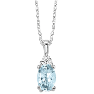 10kw color ens prong aquamarine necklace 1/30ct, fe1184-4wc