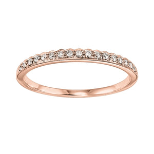 14K Rose Gold Mixable Ring (0.10 CTW)