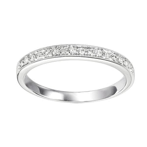 14K White Gold Mixable Ring (0.12 CTW)