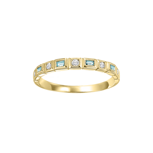 10ky mix bezel blue topaz band 1/10ct