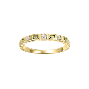 10ky mix bezel peridot band 1/10ct