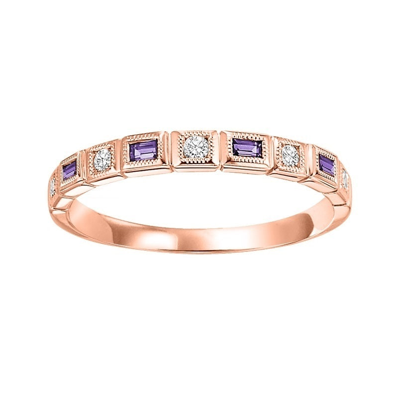 14kr mix bezel amethyst band 1/12ct, pc8140p1-4w