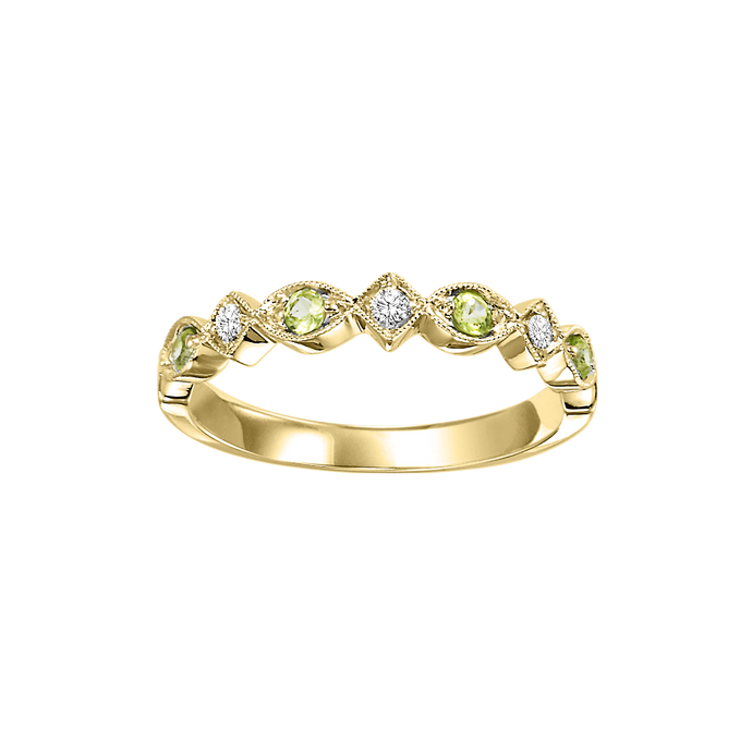 14ky mix prong peridot band 1/25ct, rg71636-4wb