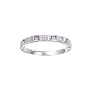 10kw mix bezel alexandrite band 1/12ct