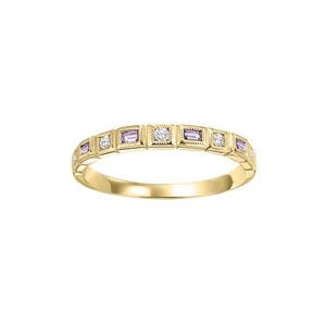 10ky mix bezel alexandrite band 1/12ct