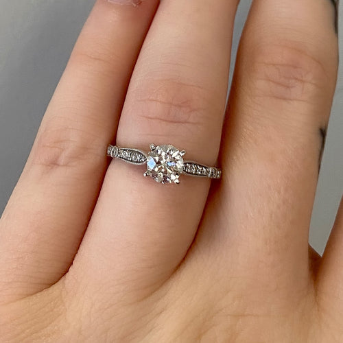 Complete Round Engagement Ring