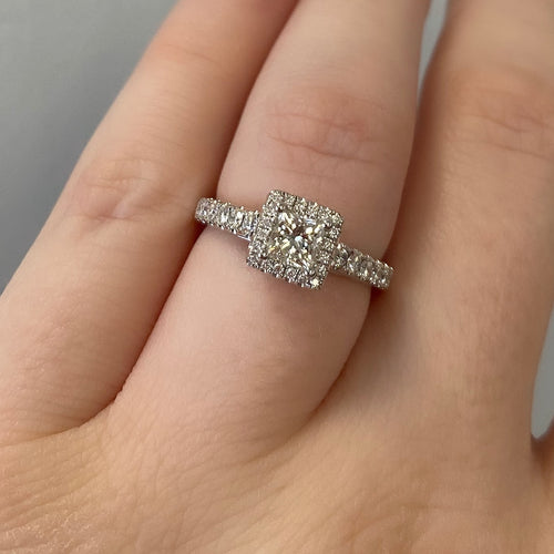 Complete Princess Cut Engagement Ring