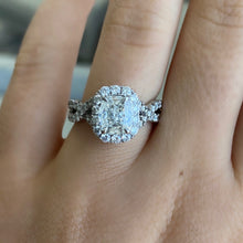 Load image into Gallery viewer, Complete Henri Daussi Cushion Engagement Ring