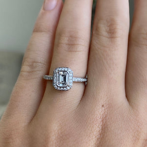 Complete Emerald Cut Engagement Ring