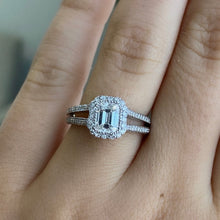 Load image into Gallery viewer, Complete Emerald Cut Engagement Ring