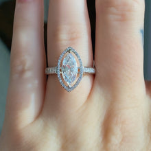 Load image into Gallery viewer, Complete Marquise Engagement Ring With Halo