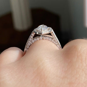 Complete Marquise Engagement Ring With Halo