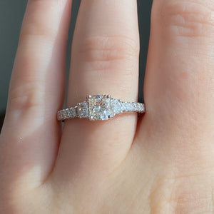 Complete Radiant Cut Engagement Ring