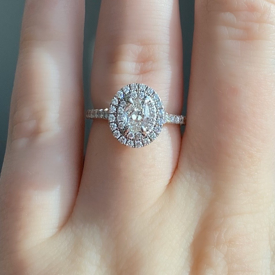Complete Oval Cut Engagement Ring with Halo