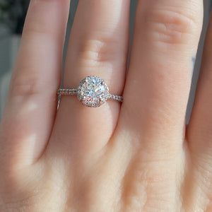 Complete Round Brilliant Engagement Ring With Halo