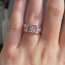 Load image into Gallery viewer, Complete Bezel Set Princess Cut Engagement Ring