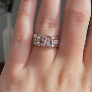 Complete Bezel Set Princess Cut Engagement Ring