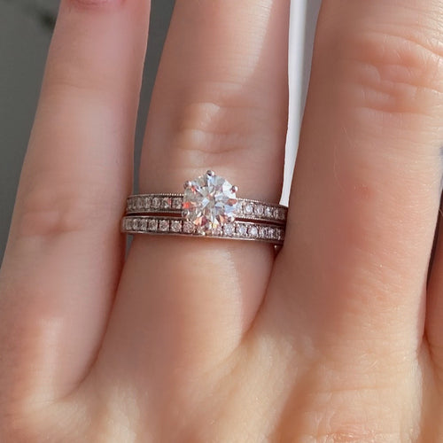 Complete A.JAFFE Engagement Ring with Wedding Band