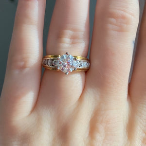 Complete Round Brilliant Two Tone Engagement Ring