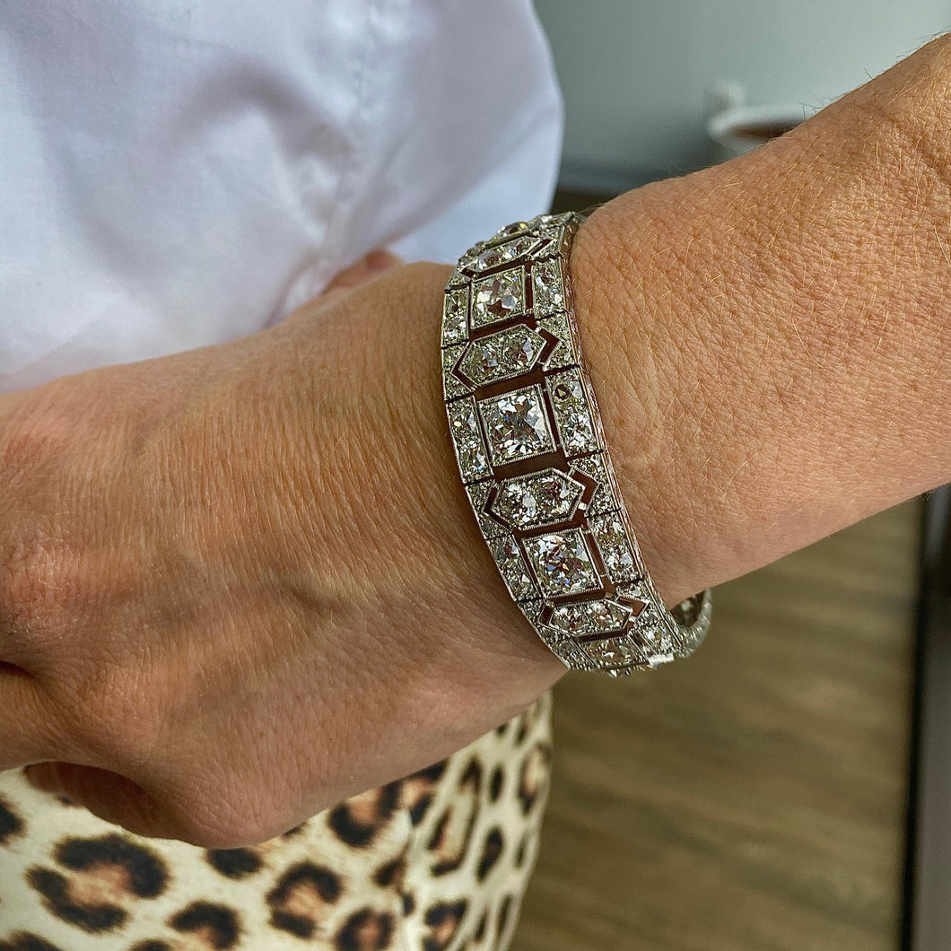 White Gold Antique Diamond Bracelet