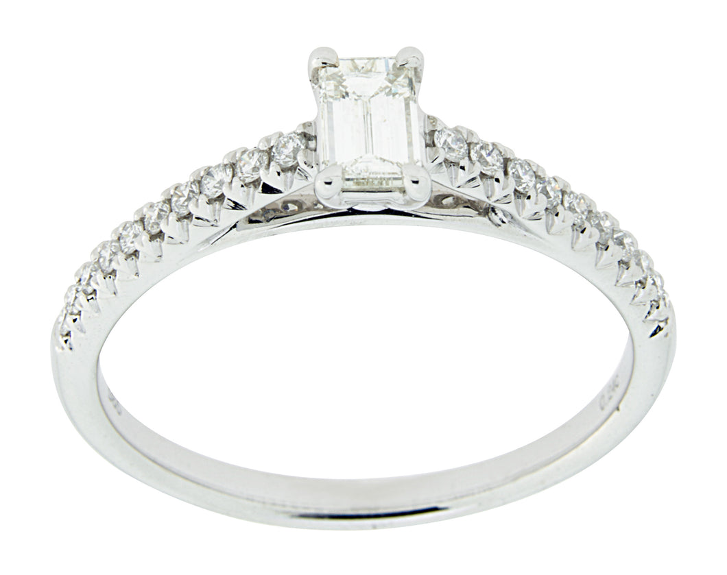 Complete Rings 14kt White Gold Classic Half-way Diamond Band