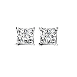 14kw prong diamond studs 3/8ct, fr1227-4yd
