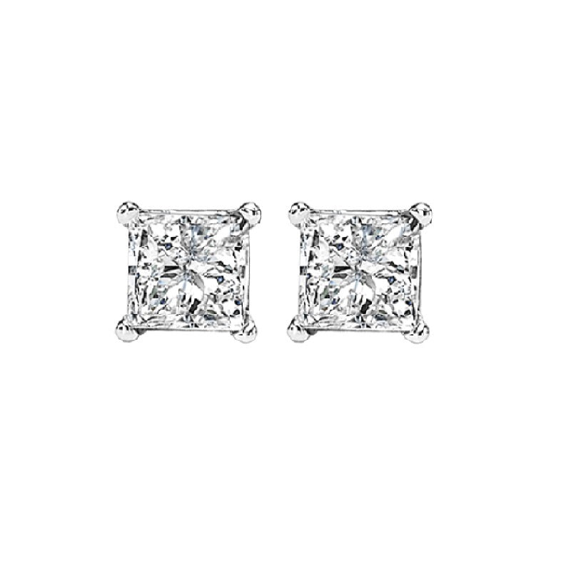 14kw prong diamond studs 3/8ct, fr1226-4pd