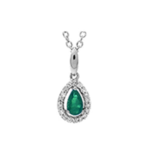 10kw color ens prong emerald necklace 1/250ct, fr1205-1wd