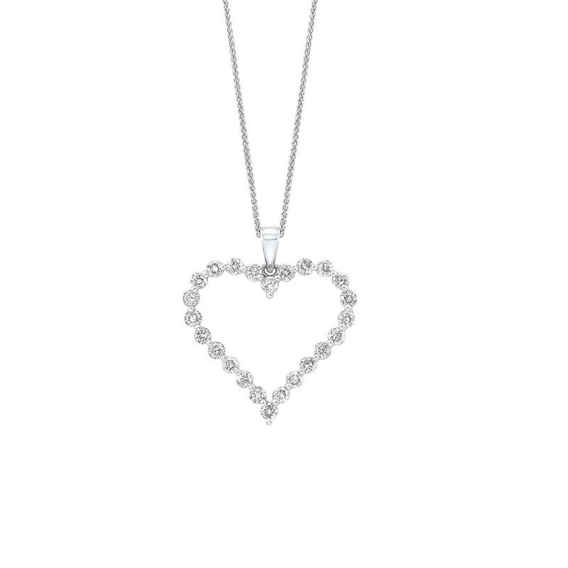 14kw single prong diamond necklace 1ct, pd10413-4wf