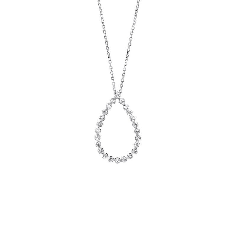 14kw single prong diamond necklace 1/2ct, pd10415-4wf