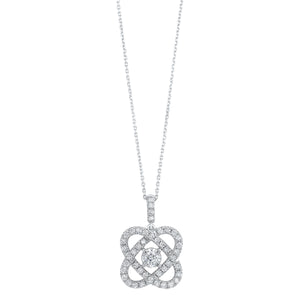 14K Love's Crossing Diamond Pendant (1 ctw)