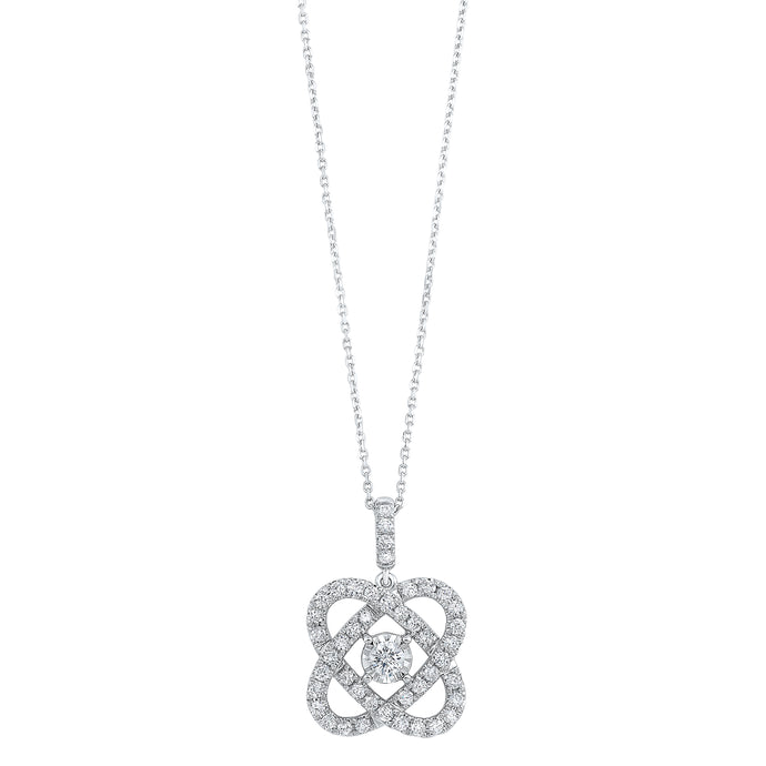 14K Love's Crossing Diamond Pendant (.25 ctw)