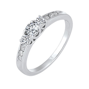 14kw 3 stone round prong ring 1/2ct, fr1210-1wd