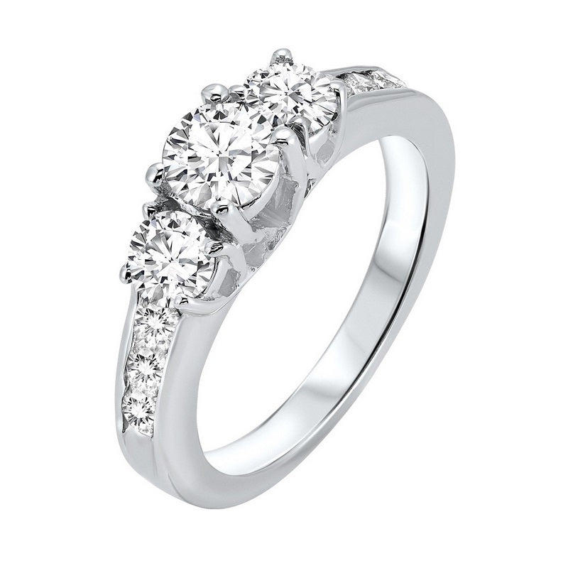 14kw 3 stone round prong ring 1ct, fr1210-1yd