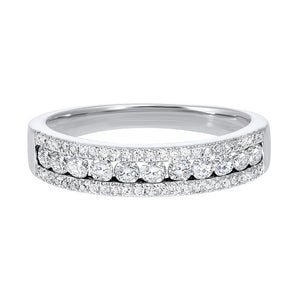14kw 3 row multi channel diamond band 1/2ct, rg10053-1wd