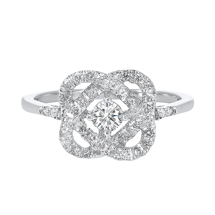 14K Love's Crossing Diamond Ring (0.25 CTW)